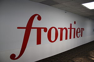 Frontier Communications logo at Frontier Build...