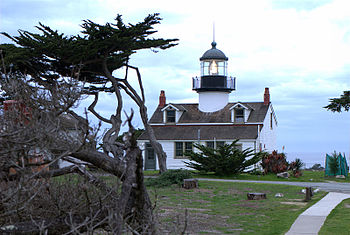 English: Point Piños Light near Pacific Grove,...