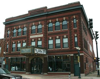 English: Cotton Theater located at 103 Main St...